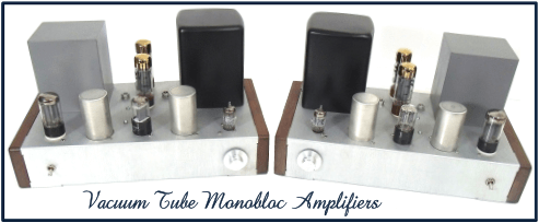 Monobloc Amp Set - Vintage Style