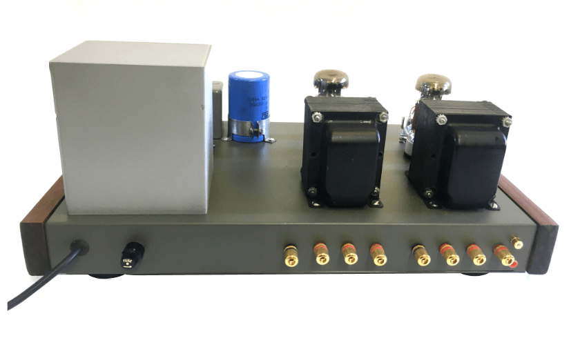 View of the back of the KT88 SE Stereo Tube Amp