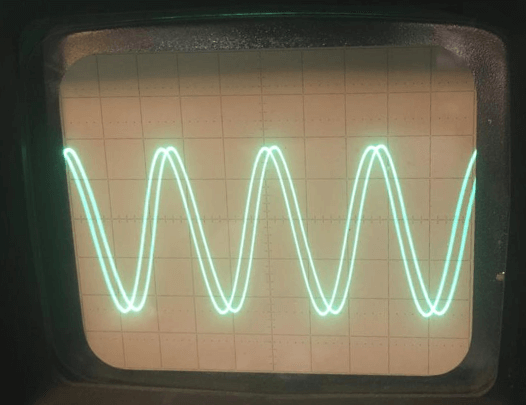 Osciliscope Screen Wave Plot = No Feedback